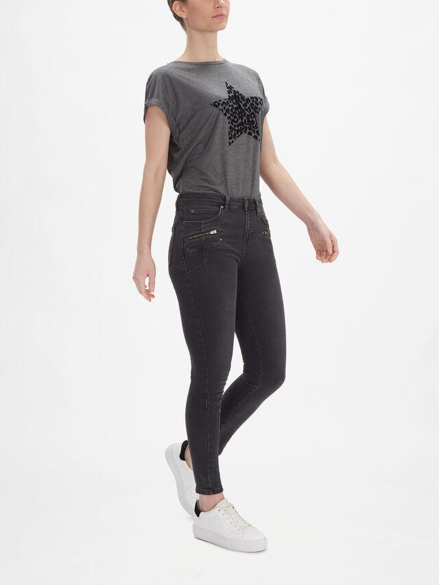 Denver Black Biker Jeans