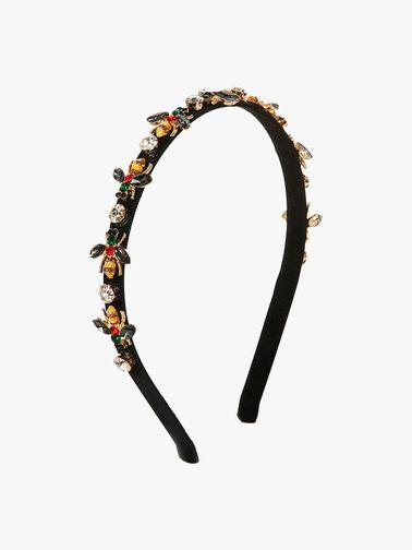 Embellished Bee Thin Crown Headband