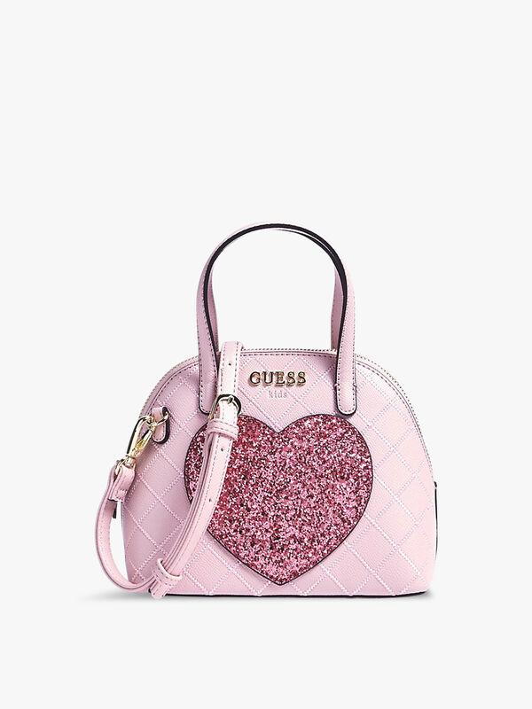 Glitter-Look Heart Handbag