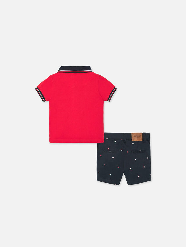 Polo Top With Shorts