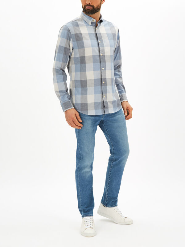 Heather Check Long Sleeved Shirt