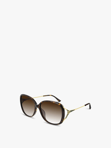 Wrap Y-Temple Metal Sunglasses