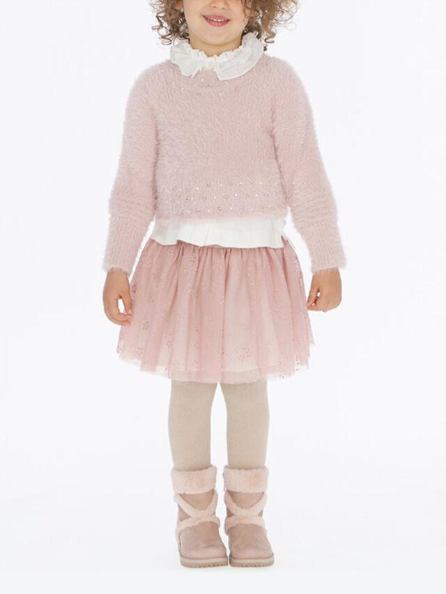 Flock Tulle Skirt