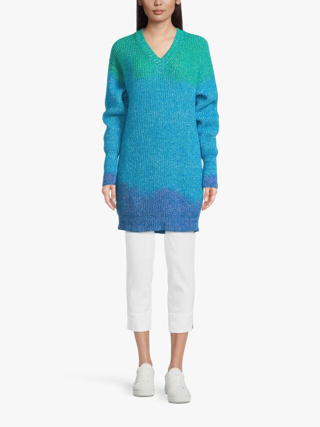 Ombre Dye V Neck Knit