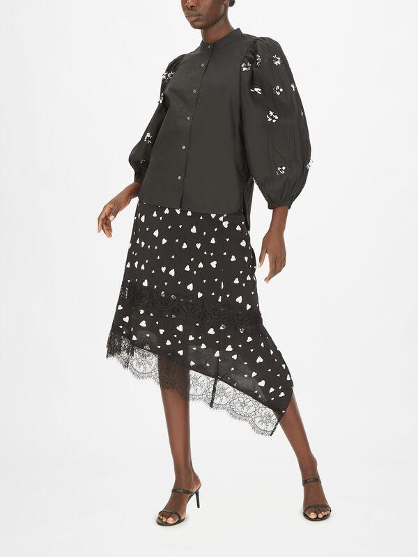 Zeatle Sequin Cotton Poplin Shirt