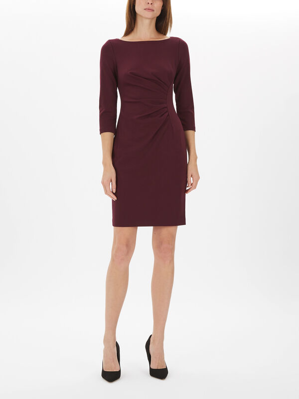 3/4 Sleeve Sheath Dress with Ruching