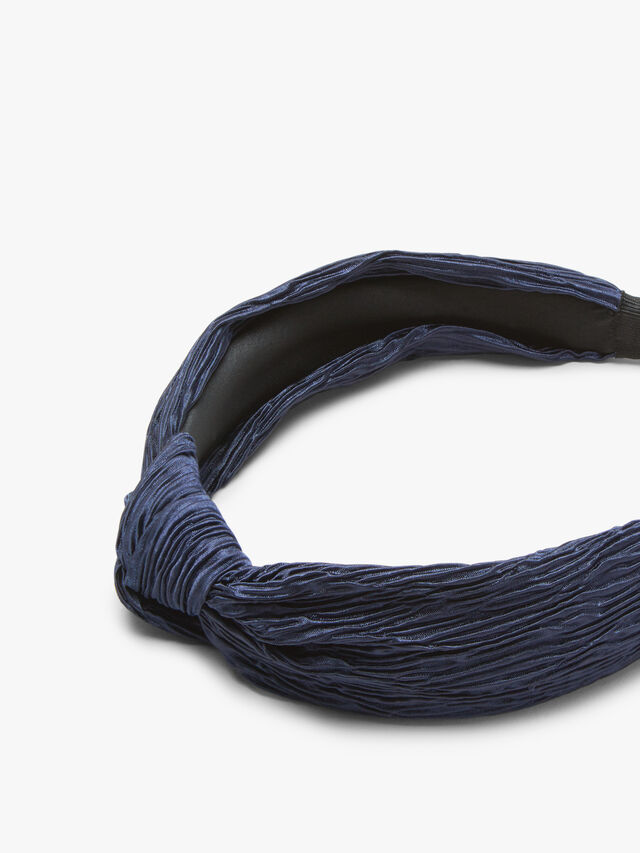 Pleated Hairband With Knot