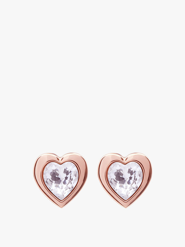 Han Crystal Heart Earrings
