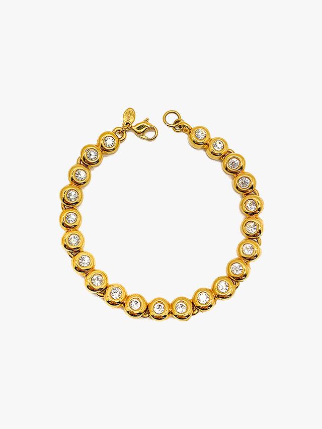 Vintage Monet Crystal Line Bracelet