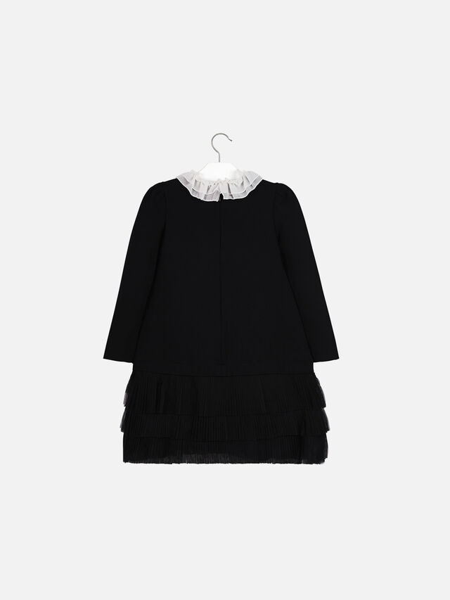 Ruffle Neckline Dress