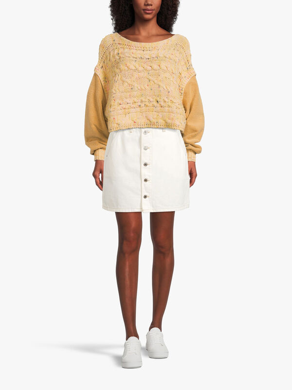 A-Line Short Denim Skirt
