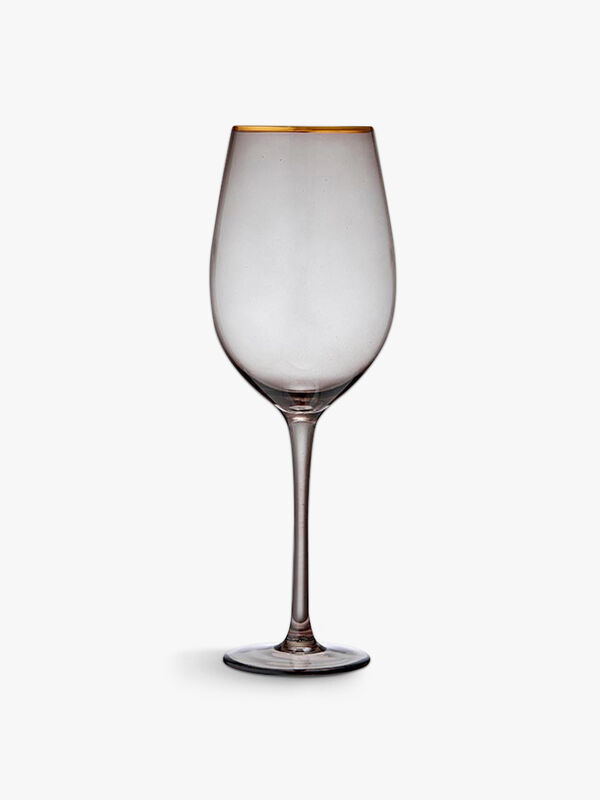 Chloe Navy Wine Glass
