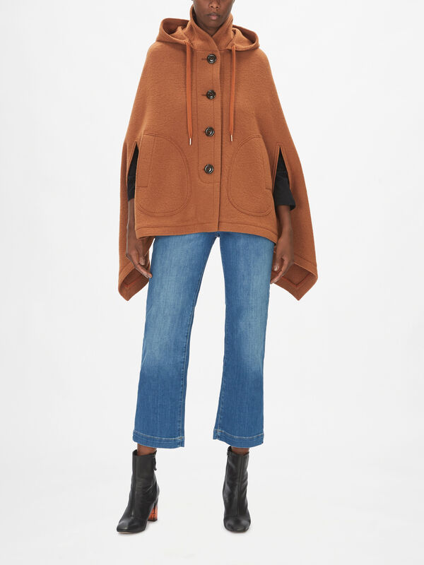Poncho Button Up Coat