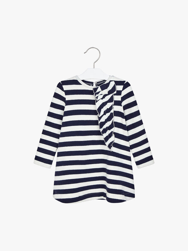 Stripe Dress With Ruffle