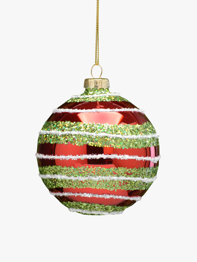 Christmas Bauble With Glitter