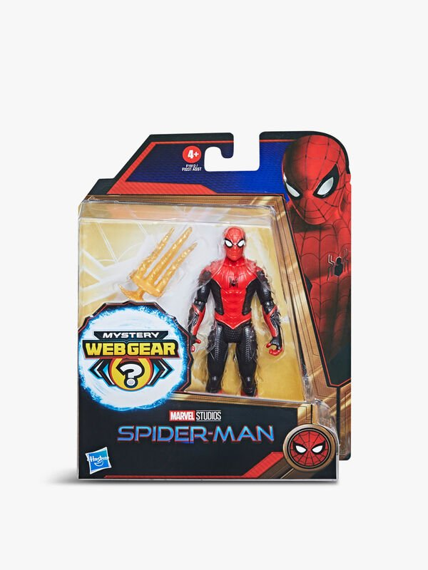 Marvel Spider-Man Mystery Web Gear Upgraded Black and Red Suit Spider-Man