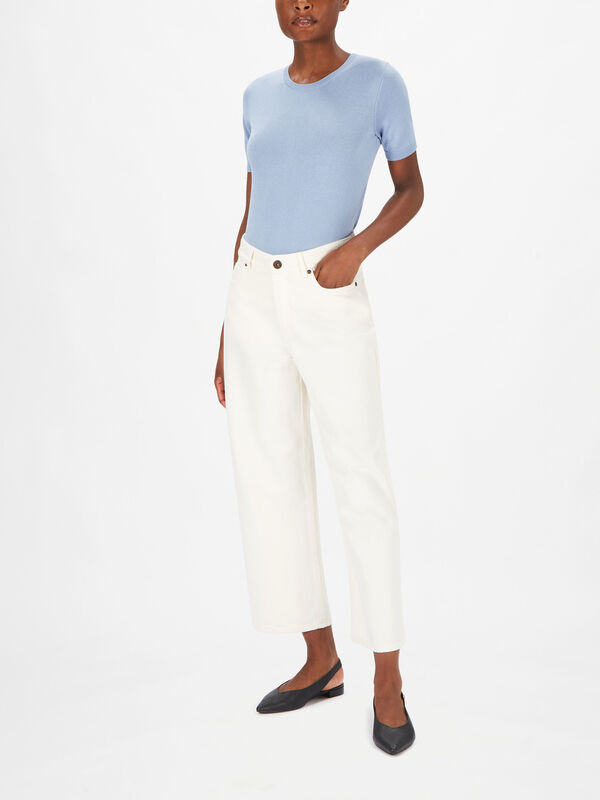 Ginetta Wide Leg Cropped Jeans