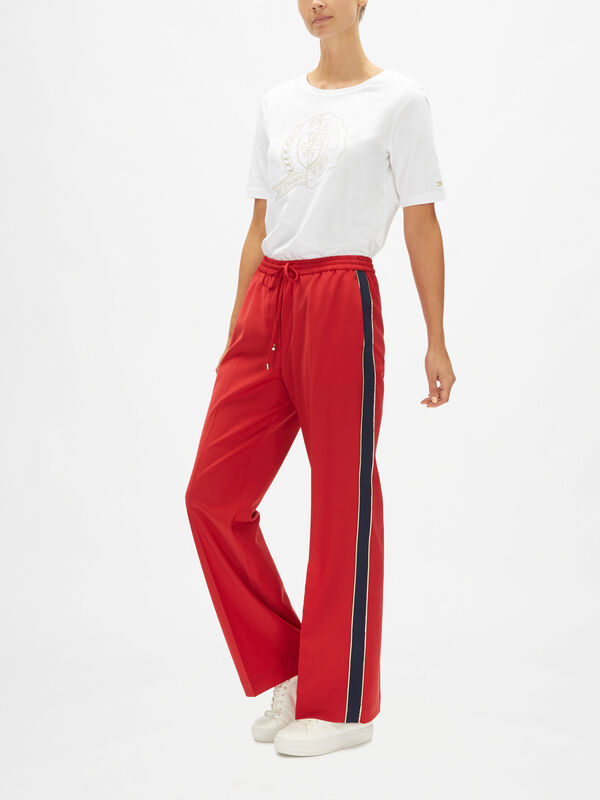 Icons Wool Wide Leg Trousers