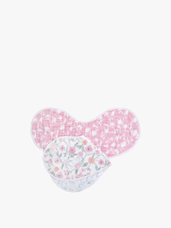 Ma Fleur Theme Burpy Bibs 2 Pack