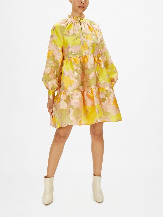 Jasmine Floral Organza Short Dress
