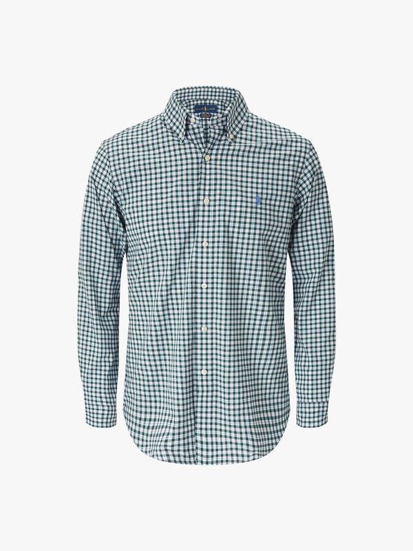 Custom Fit Plaid Stretch Shirt