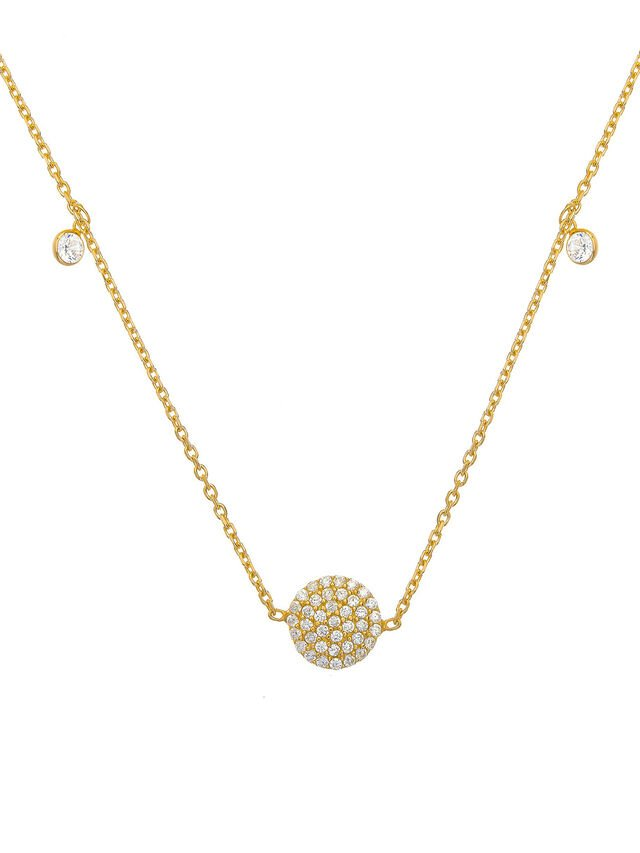 Pave Disk Necklace