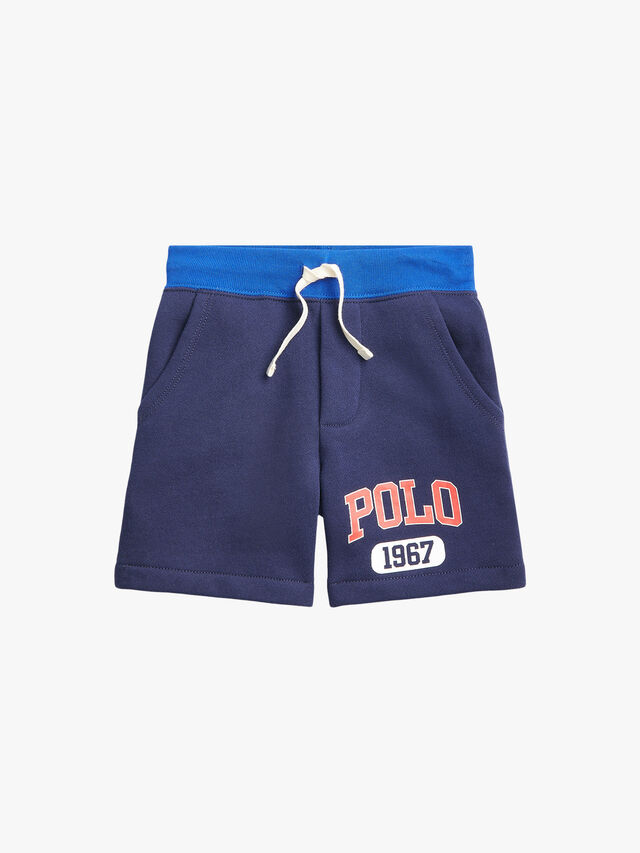 Fleece Polo Logo Shorts