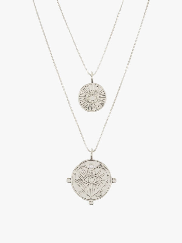 The Evil Eye Double Coin Necklace