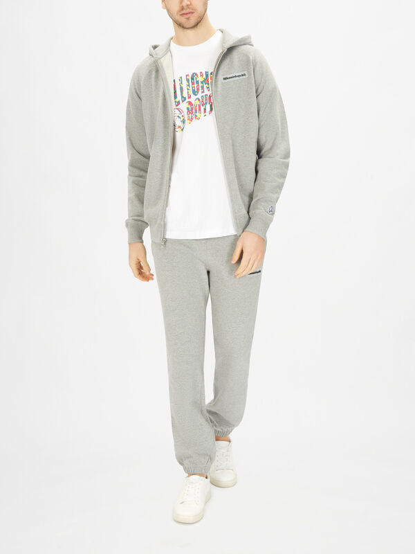 Patch Full Zip Hooded Sweatshirt