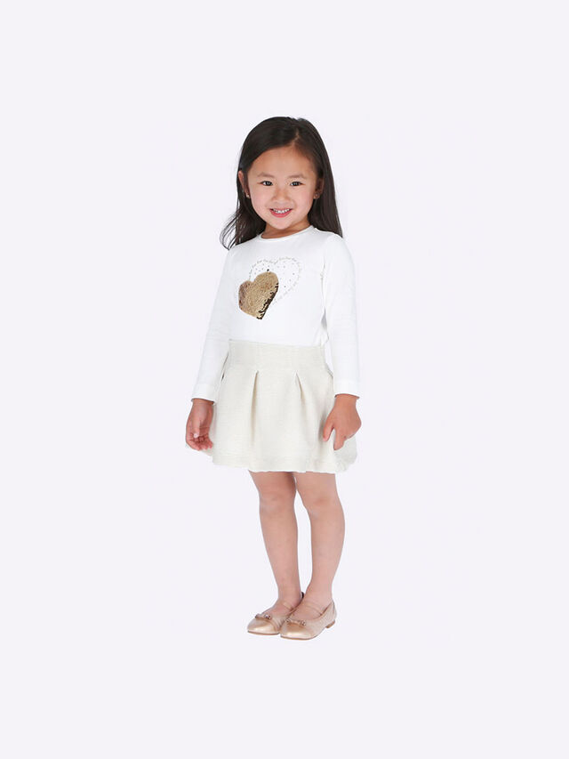 Heart T-Shirt And Skirt Set