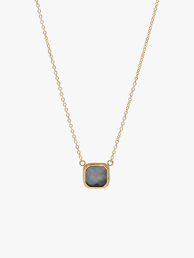 Grey Quartz Double Drop Necklace