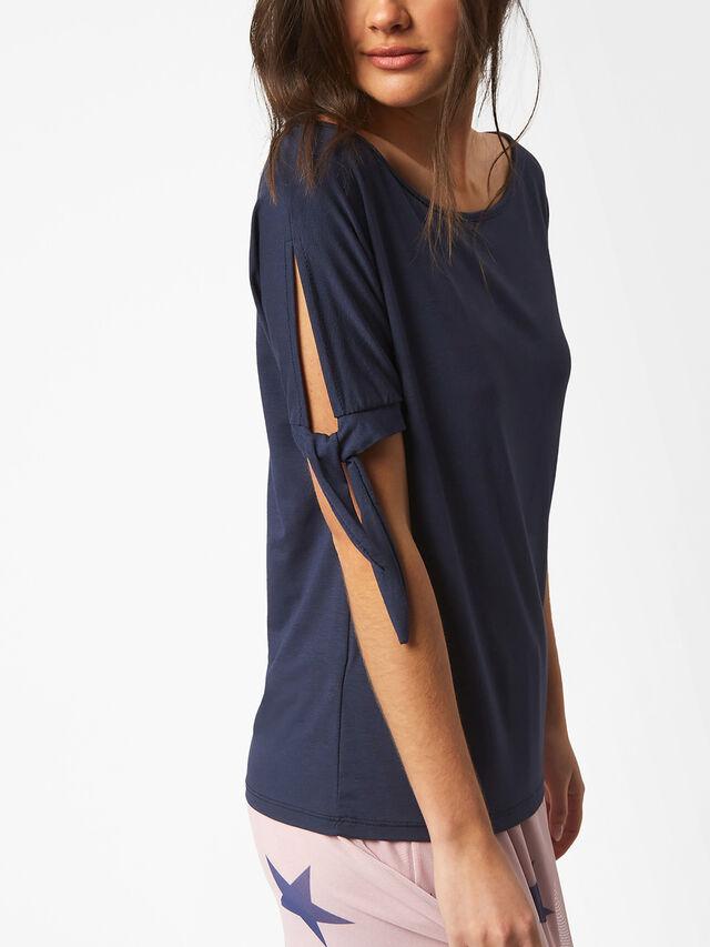 Bow Sleeve Detail T-Shirt