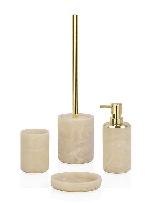 Cloudy Gold Toilet Brush Holder