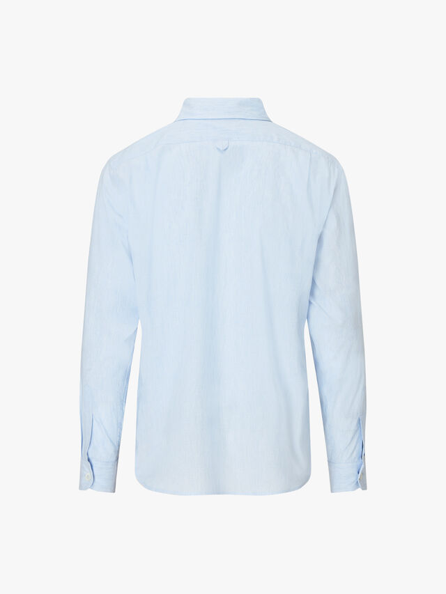 Minimal End on End Cotton Linen Shirt