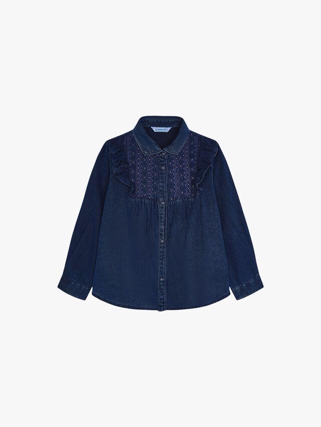 Denim stitched blouse