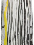 Abstract Print Cropped Wide Leg Viscose Trouser