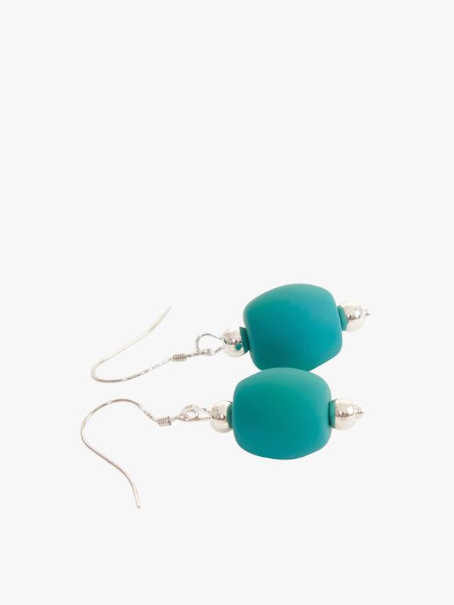 Primrose Earring silver wire bead
