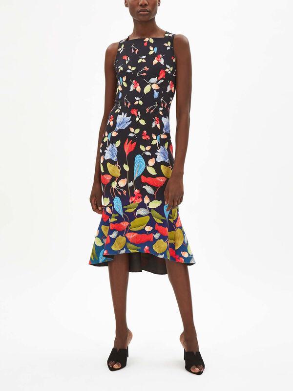 Printed Cady Kia Frill Dress