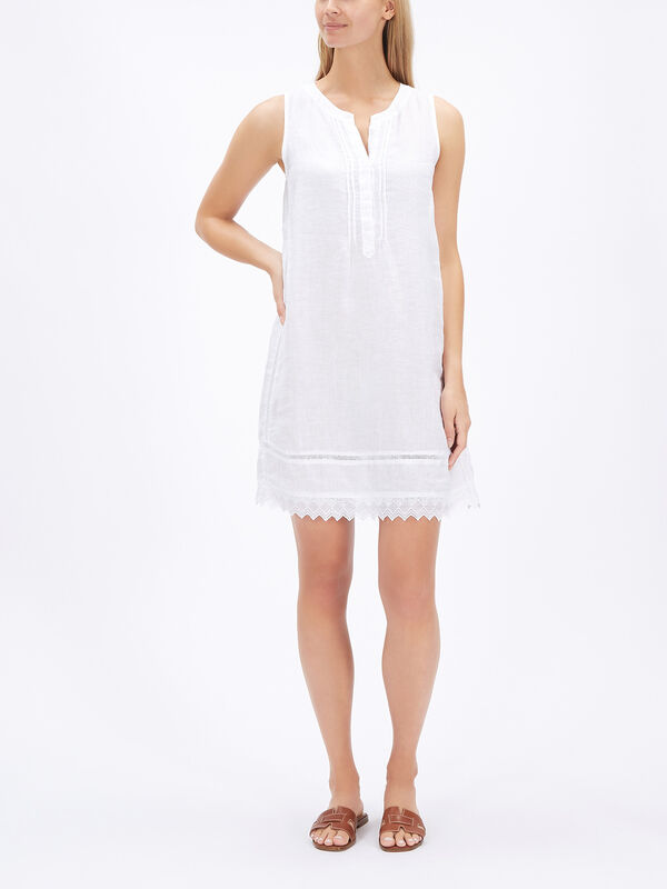 Scallop Laced Trim Dress