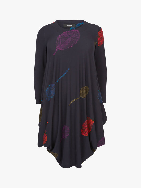Shadow Print Bubble Jersey Dress