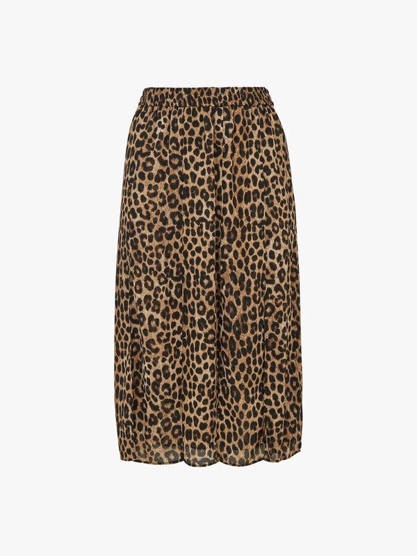 Mega Cheetah Split Skirt