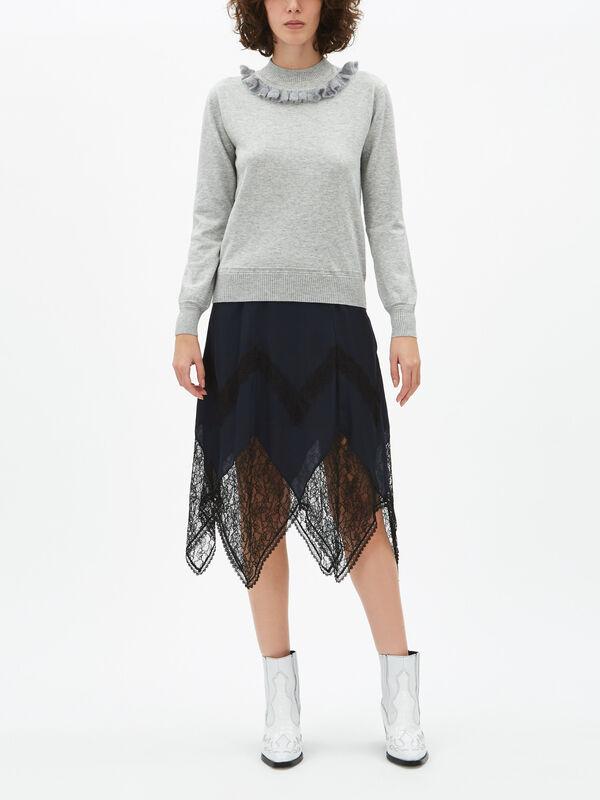 Ruffle Neck Knit
