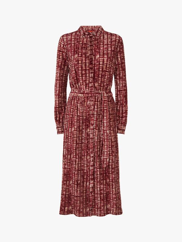 Cortile Velveteen Shirt Dress
