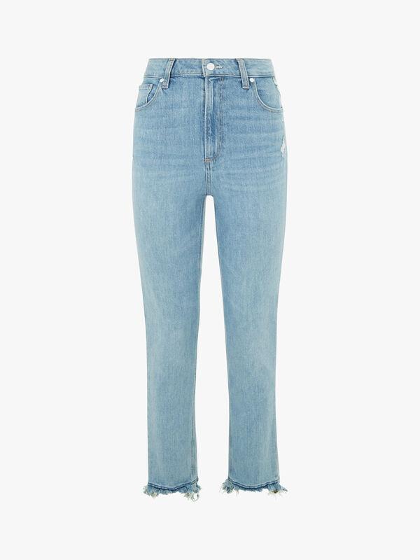 Sarah Slim Ripped Hem Jeans