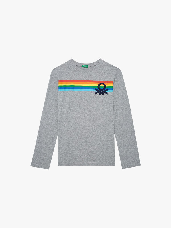 Colourful Long Sleeved T-Shirt