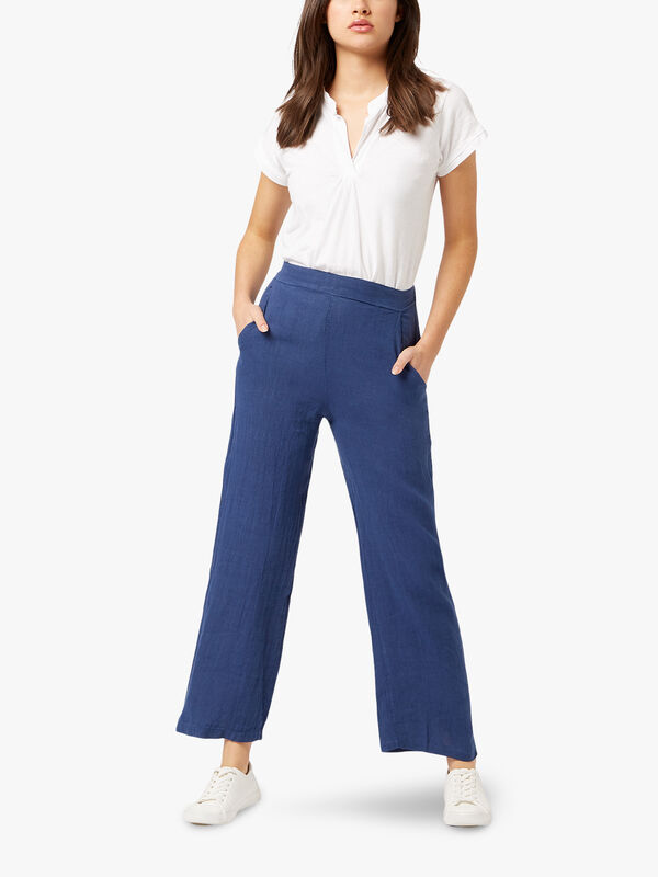Wide Leg Linen Trousers