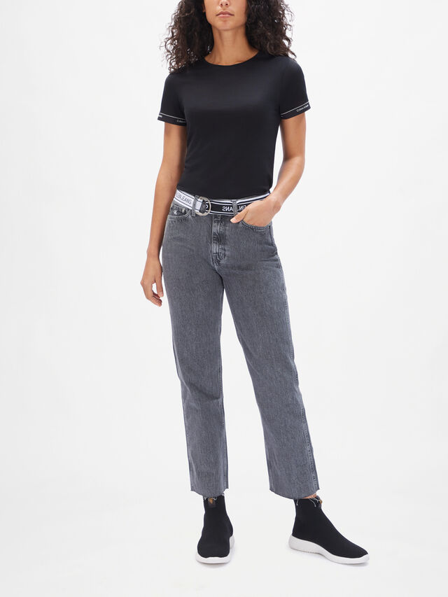 030 High Rise Straight Ankle Jeans