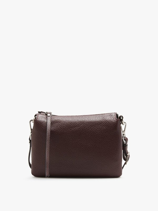 Three Compartment Zip Top Crossbody