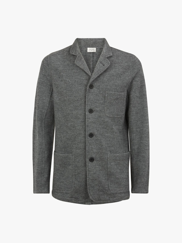 Boiled Wool Blazer