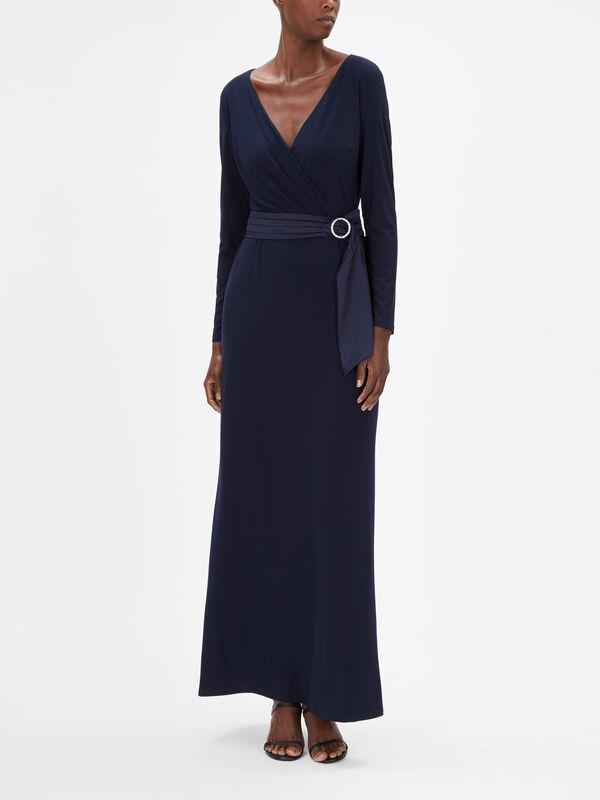 Elora Wrap Evening Dress